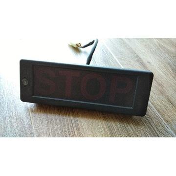 Lampka STOP, przystanek na żądanie, z autobusu