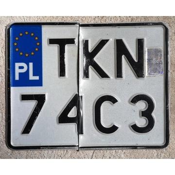 Polska motocyklowa tablica rejestracyjna