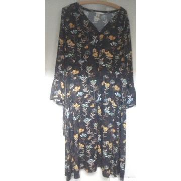 TATUUM - Letnia sukienka z długim rękawem roz.42