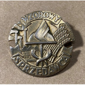 odznaka Wzorowy sprzedawca srebrna (?)
