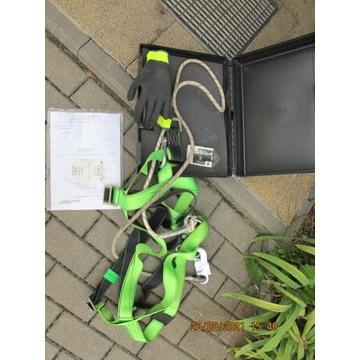 szelki do pracy na wysokości BHP + lina + walizka