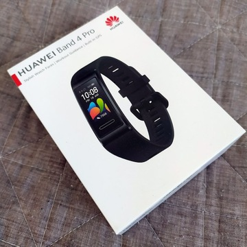Huawei Band 4 Pro GPS, jak nowy, komplet
