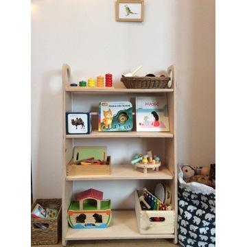 Regał na zabawki dla dzieci montessori