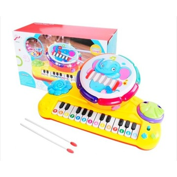 Nowe Organy z perkusją interaktywne pianinko 2w1