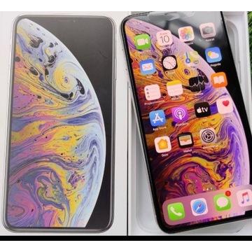 iPhone Xs Max 256 gb silver stan jak nowy komplet