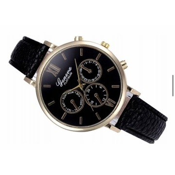 Efektowny zegarek damski. Geneva. Licytacja od 1 z