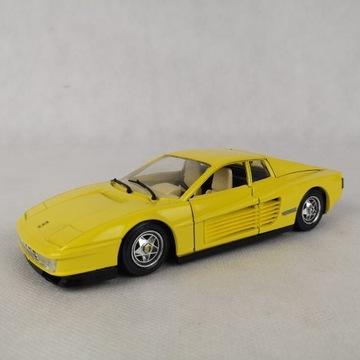 Bburago Ferrari Testarossa 1984 skala 1:24 żółty