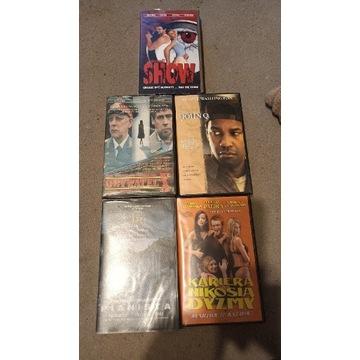 Zestaw kaset VHS z filmami