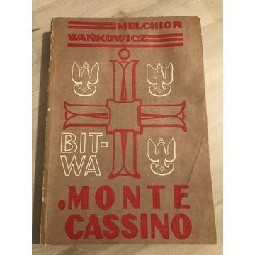 Bitwa o Monte Cassino Melchior Wańkowicz wyd II