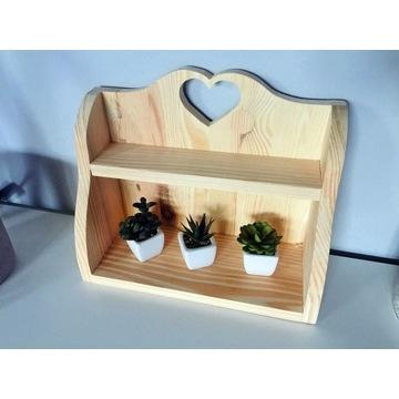 Półka drewniana, szafka - HANDMADE-serduszko