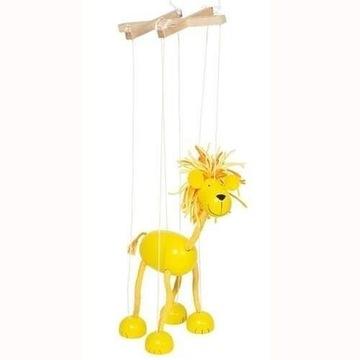Drewniana marionetka GOKI - lew