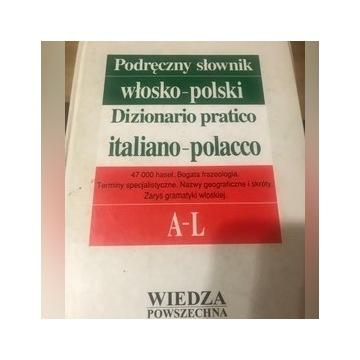 Podręczny słownik włosko polski 2 tomy