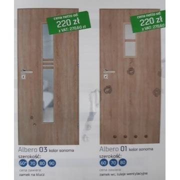 Drzwi pokojowe łazienkowe dostępne od ręki