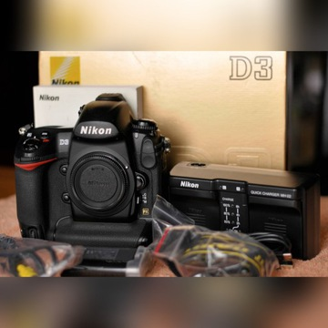 Nikon D3 – body / korpus; pełna klatka.