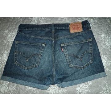 spodenki szorty dżinsowe Levis 501 wysoki stan  XL
