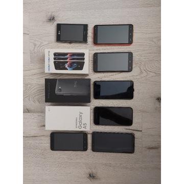 zestaw uszkodzonych telefonów!!