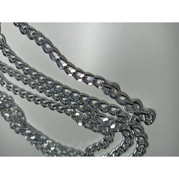 Łańcuch srebrny metry 7 mm
