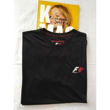 Czarna koszulka sportowa XL, Formuła 1 racing F1