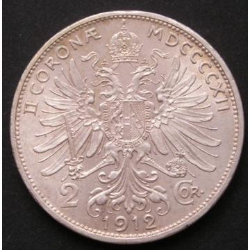 Austro-Węgry 2 korony 1912 - cesarz - srebro