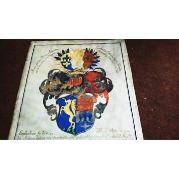 Herb europejski Pergamin malowany z 1796 roku