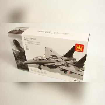 F-15 Samolot Myśliwiec Wojskowy Klocki 262 części