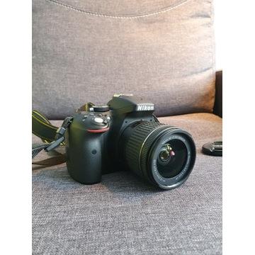 Nikon D5300 + NIKKOR 18-55MM + etui PRZEBIEG 4524