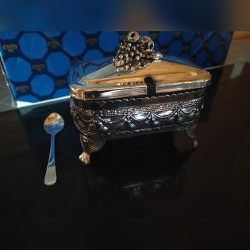 Nowa cukiernica Precioza kryształ i plater