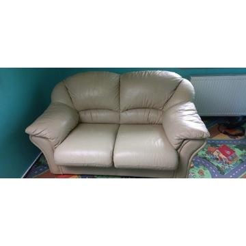Sofa rozkładana + fotel skóra