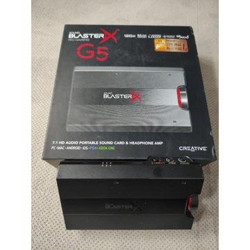 Karta dźwiękowa sound blaster x g5 używana miesiąc