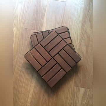 15 szt. podestu tarasowego: drewniany Ikea Runnen