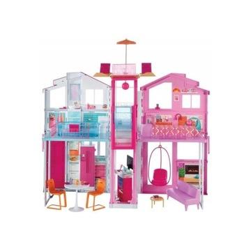 Domek dla lalek BARBIE 3 poziomy DLY32
