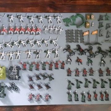 Żołnierzyki, rycerzyki, figurki, indianie, armata
