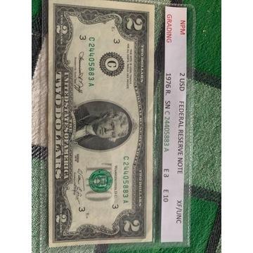 2 dolary 1976 R. XF / UNC
