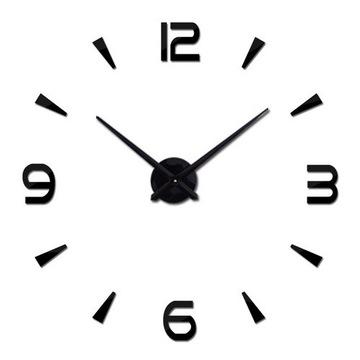 Zegar Ścienny Duży 80-120cm Czarny 4 Cyfry