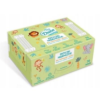 Patyczki higieniczne dla dzieci niemowląt Dada 70