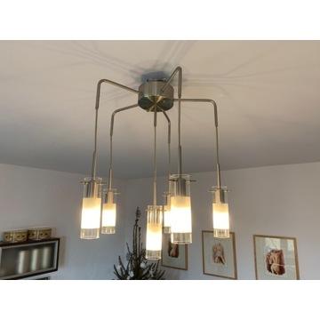 Lampa sufitowa nowoczesna stał szkło