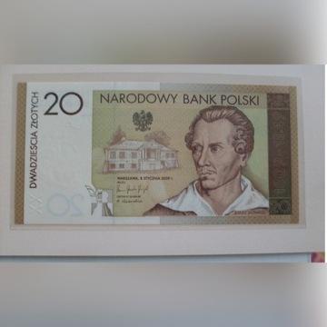 20 zł. Juliusz Słowacki banknot kolekcjonerski