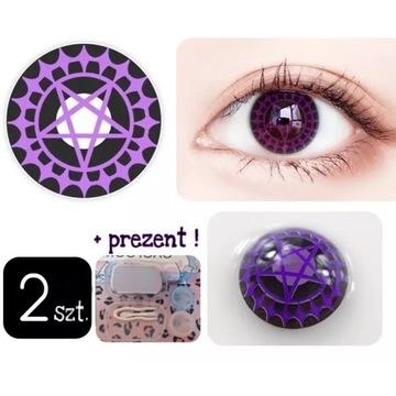 Soczewki kolorowe 2szt ROCZNE pentagram alternativ