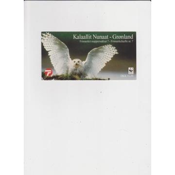 Sowy,Grenlandia,WWF,zeszycik znaczkowy,czysty