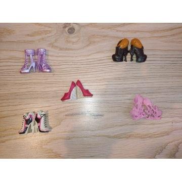 5 par butów dla lalek monster high