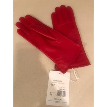 Czerwone skórzane rękawiczki Molton M zamiast 249
