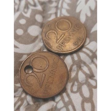 Moneta 20 pfening niemieckie
