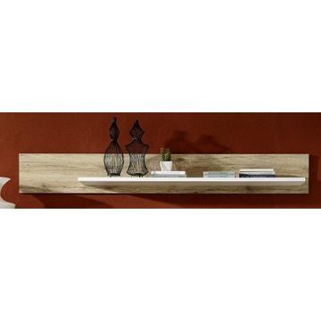 długa półka/ panel dąb san remo biały