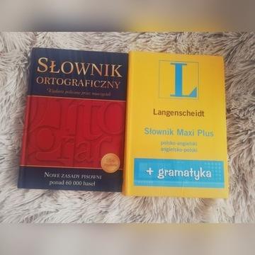 Słowniki Polsko-Angielski i ortograficzny