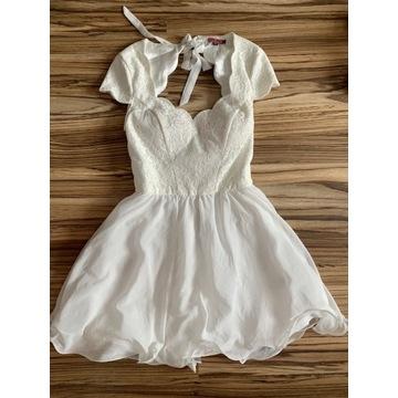 Sukienka biała 38 40 chi chi london wesele