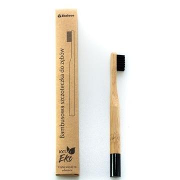 Bambusowa szczoteczka dla dziecka twarda czarna