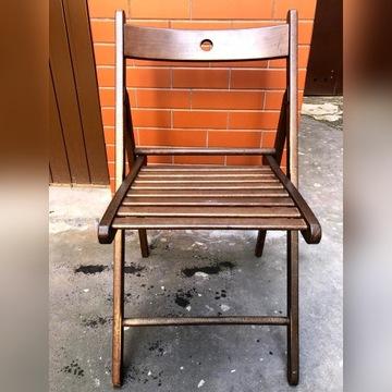 Krzesło składane, brązowe Terje (IKEA) - 15 sztuk