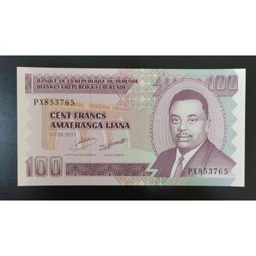 Burundi 100 FRANCS UNC 2011 seria PX