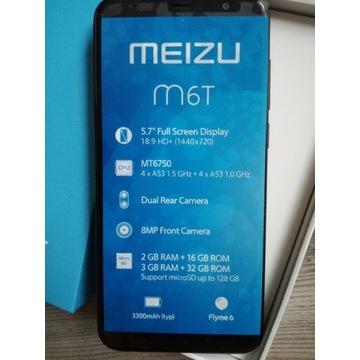 """Meizu M6T 14,5cm 5,7"""" 2GB 16GB Dual SIM 3300mAh"""