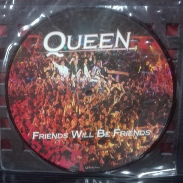 """Queen Friends will be friends picture disc 7"""" sp"""